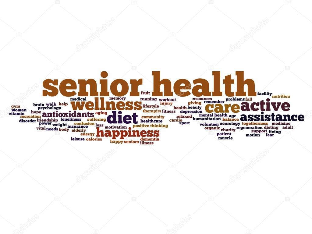 Senior Health Word Cloud Stock Photo C Design36 129348850