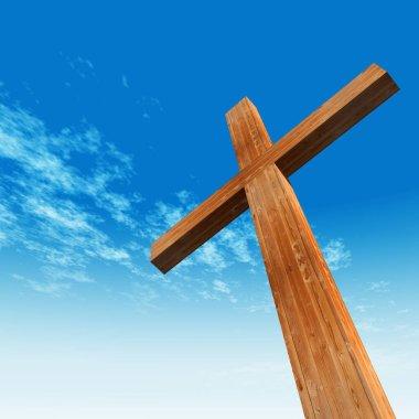 conceptual wooden cross