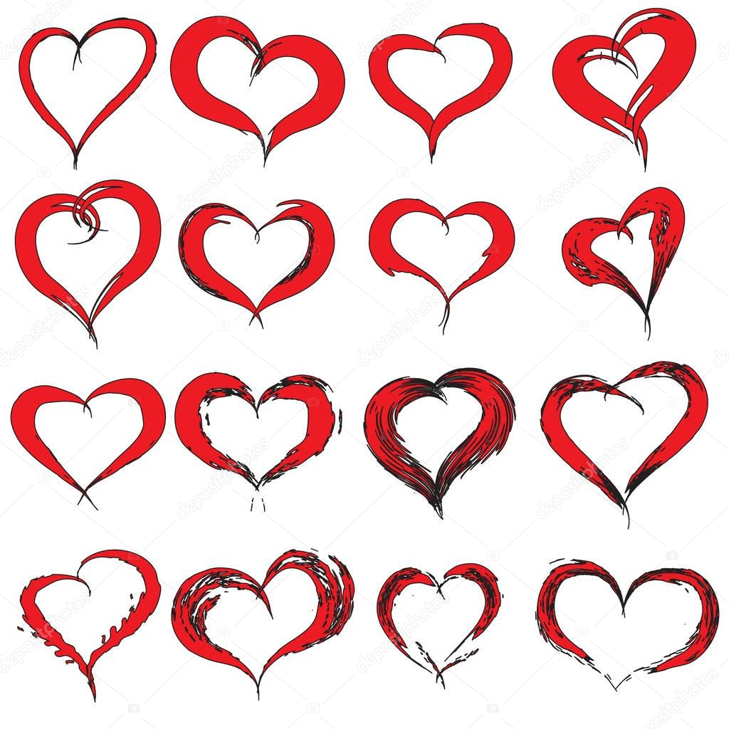 painted hearts shapes stock photo design36 129351220