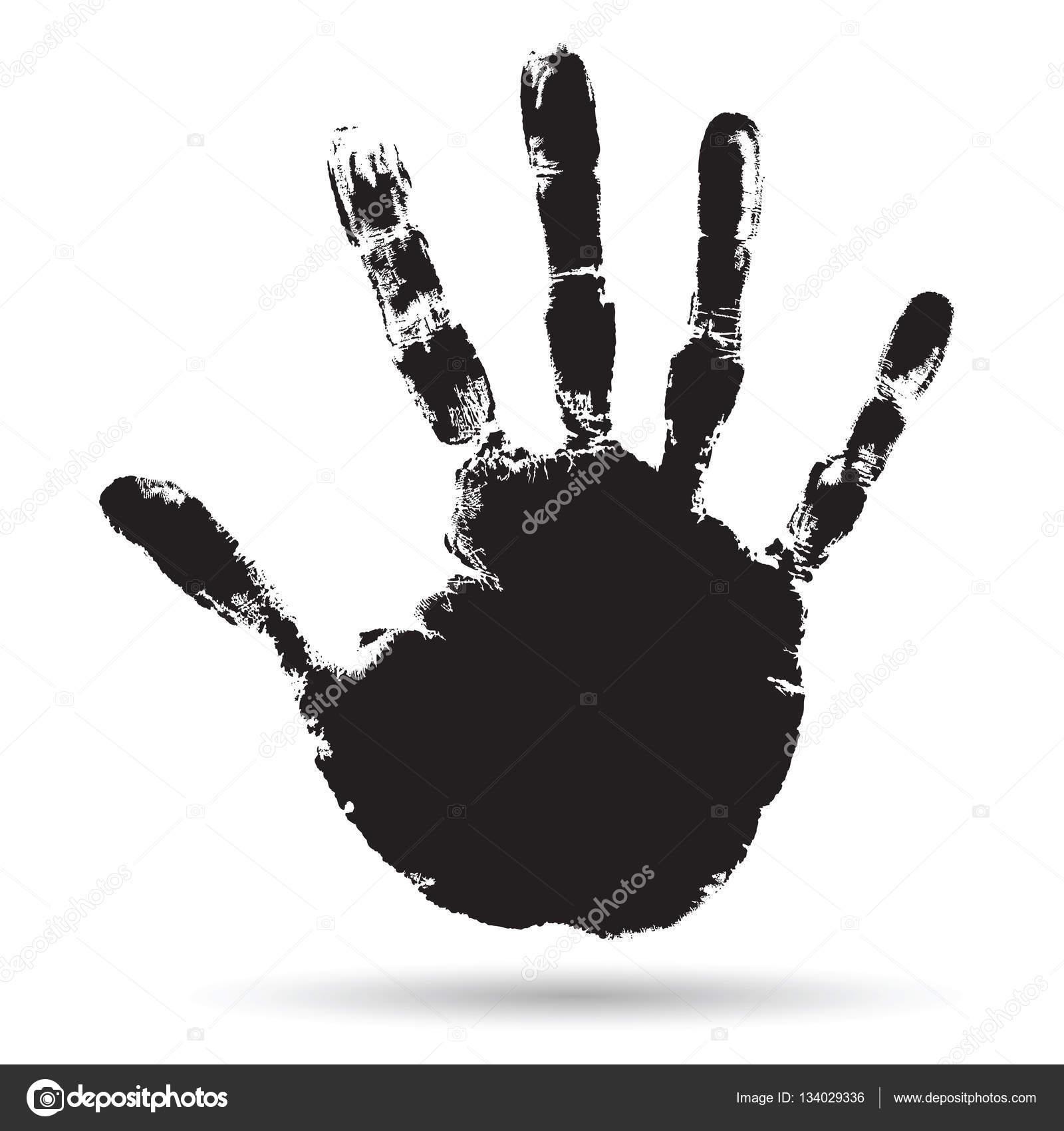 black paint human hand or handprint stock photo design36 134029336