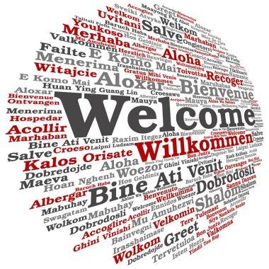 Conceptual multilanguage greetings word cloud