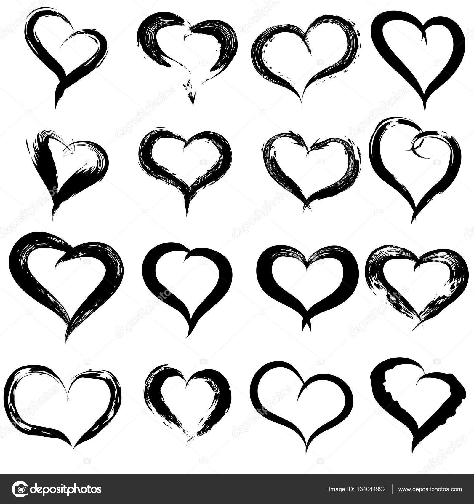 Boyalı Kalp şekilleri Stok Foto Design36 134044992