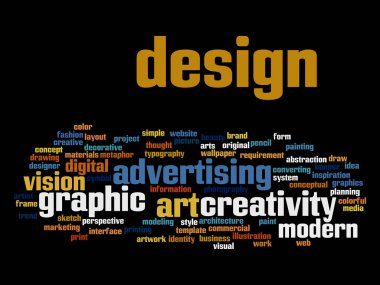 art graphic design word cloud