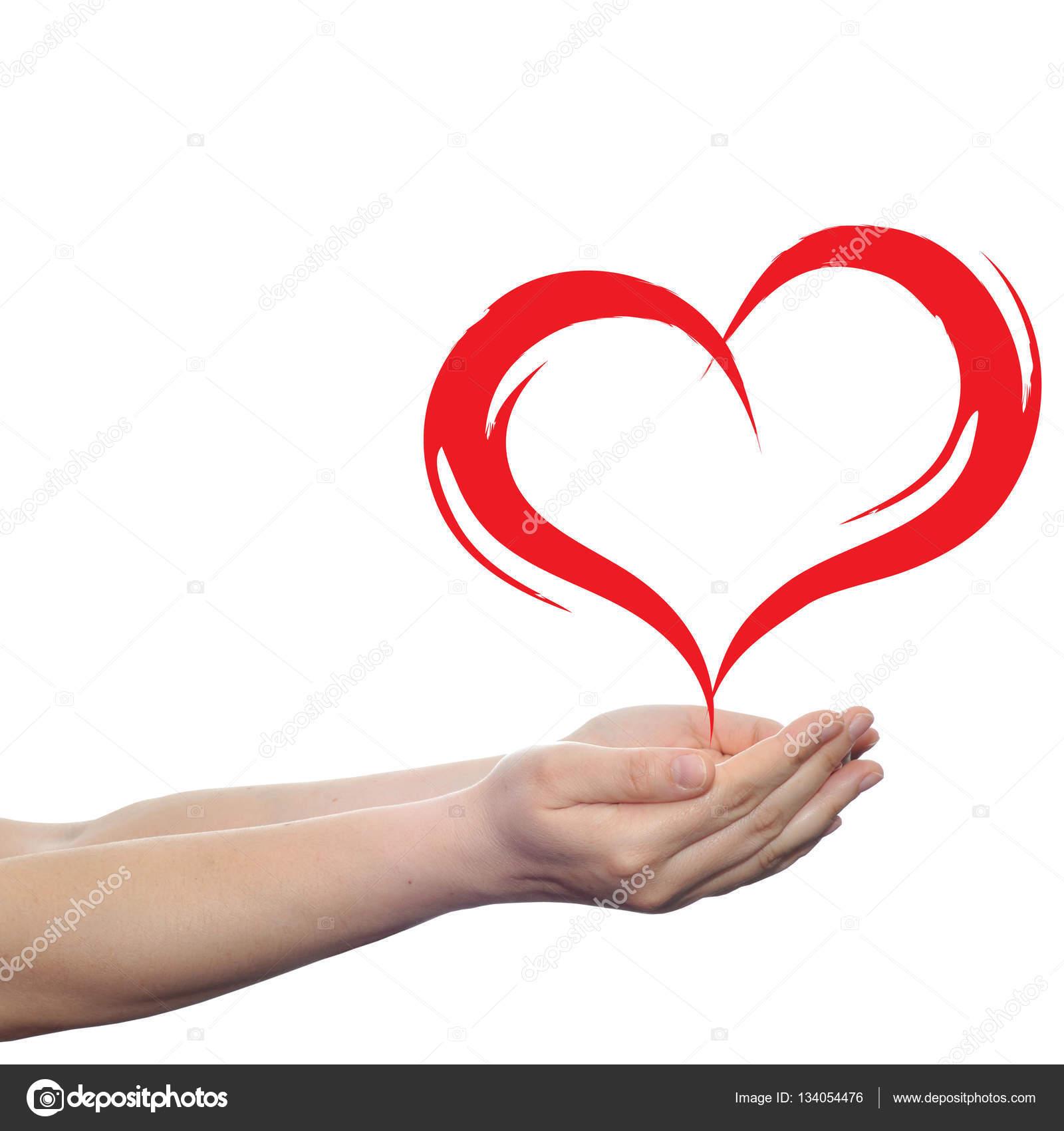 Herzform In Der Hand Stockfoto C Design36 134054476