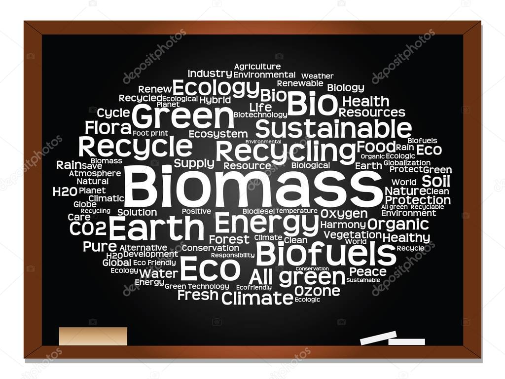green ecology, conservation word cloud