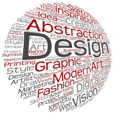 graphic design text word cloud