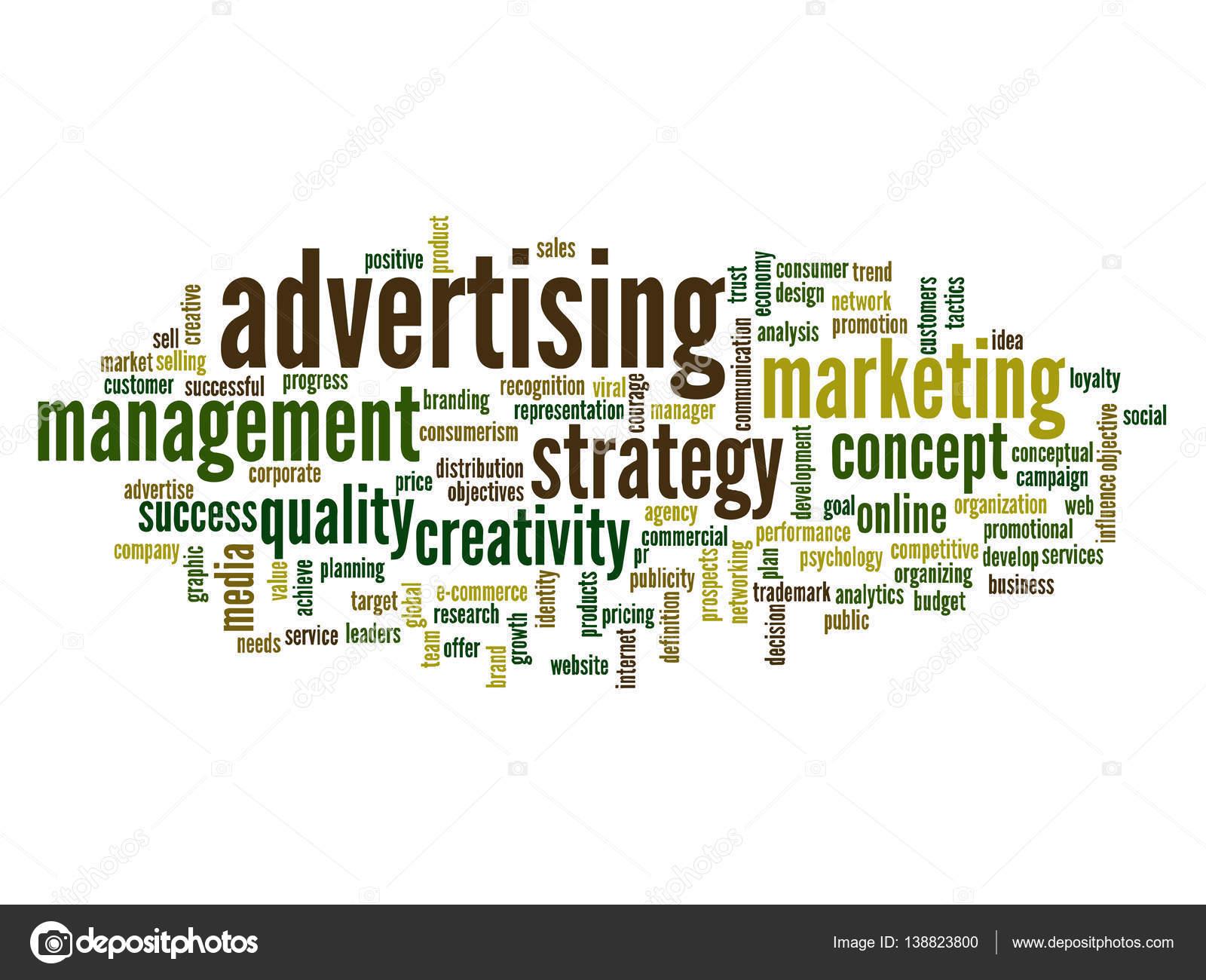Resumen de nube de word de publicidad — Foto de stock © design36 ...