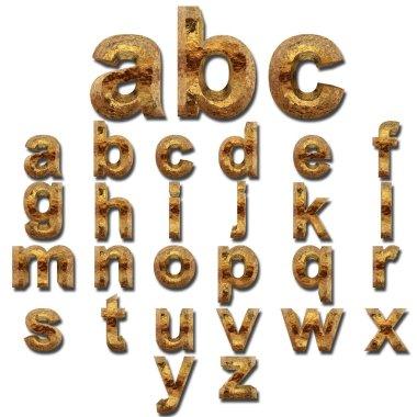 shiny metal font