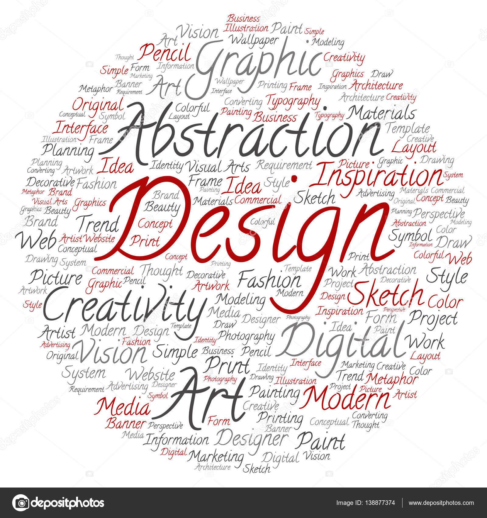 concept or conceptual creativity art graphic design circle word