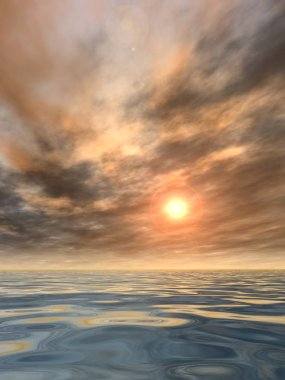 conceptual sunset background