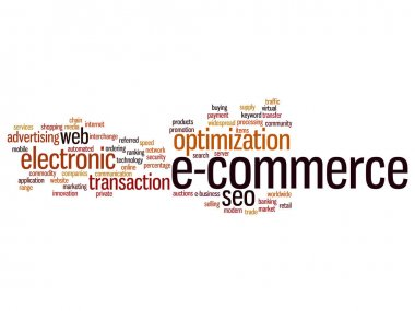 E-commerce electronic sales abstract word cloud