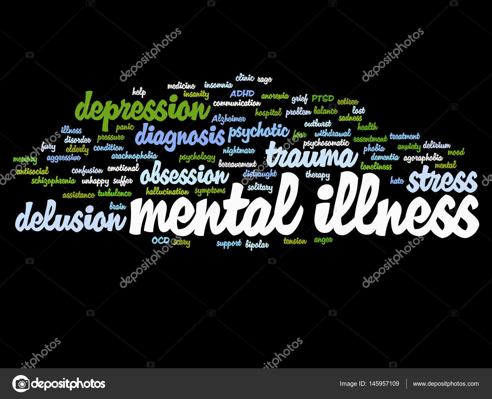 conceptual mental illness word cloud — Stock Photo © design36 #145957109