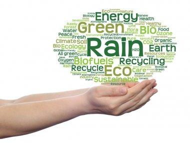 Concept or conceptual abstract green ecology