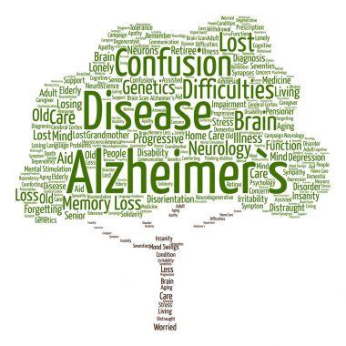 Concept conceptual Alzheimer`s disease