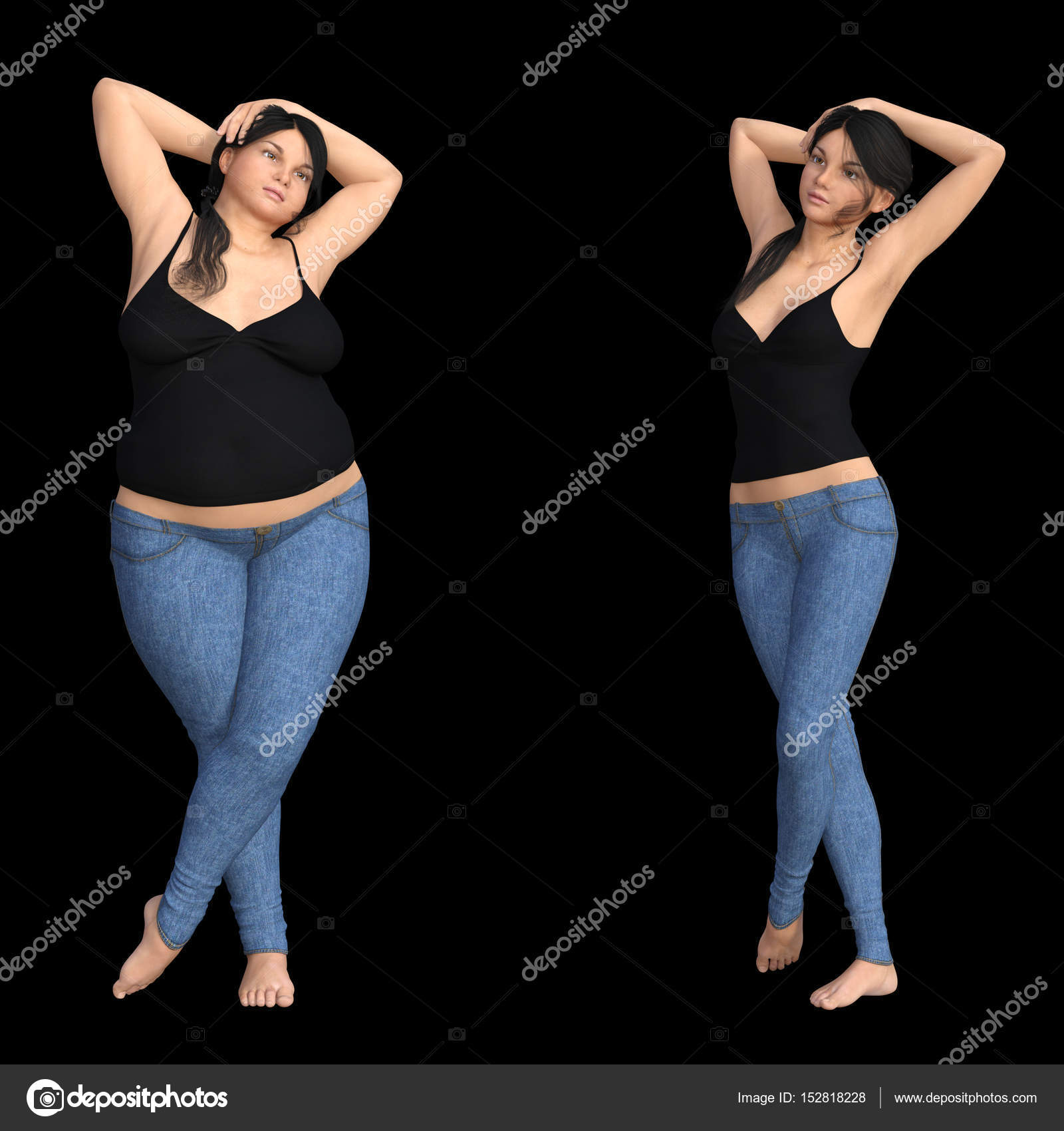 Fat Overweight Obese Female Vs Slim Fit Healthy Diet Stock Photo C Design36 152818228 How many fat women would date a fit guy? fat overweight obese female vs slim fit healthy diet stock photo c design36 152818228