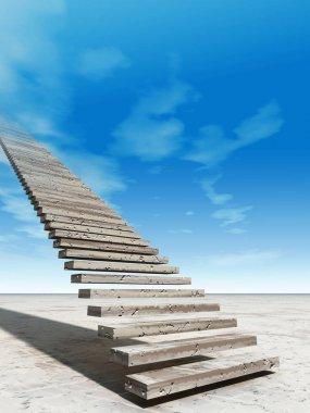 stair steps to heaven in desert