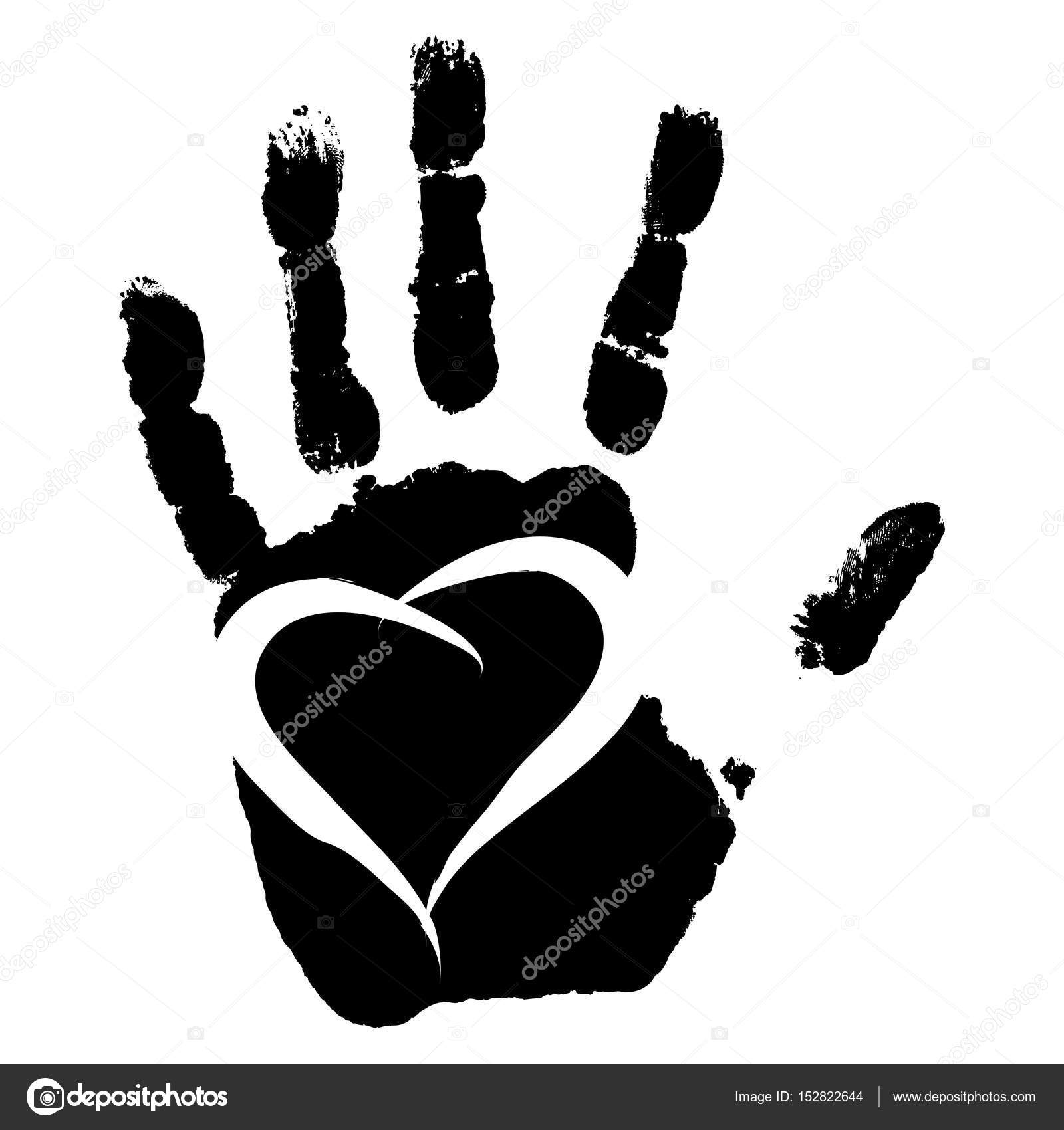 çocuğun Siyah El Izi Stok Foto Design36 152822644