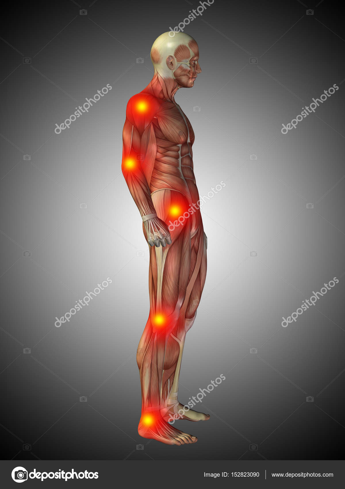 human body anatomy with pain signs — Stock Photo © design36 #152823090