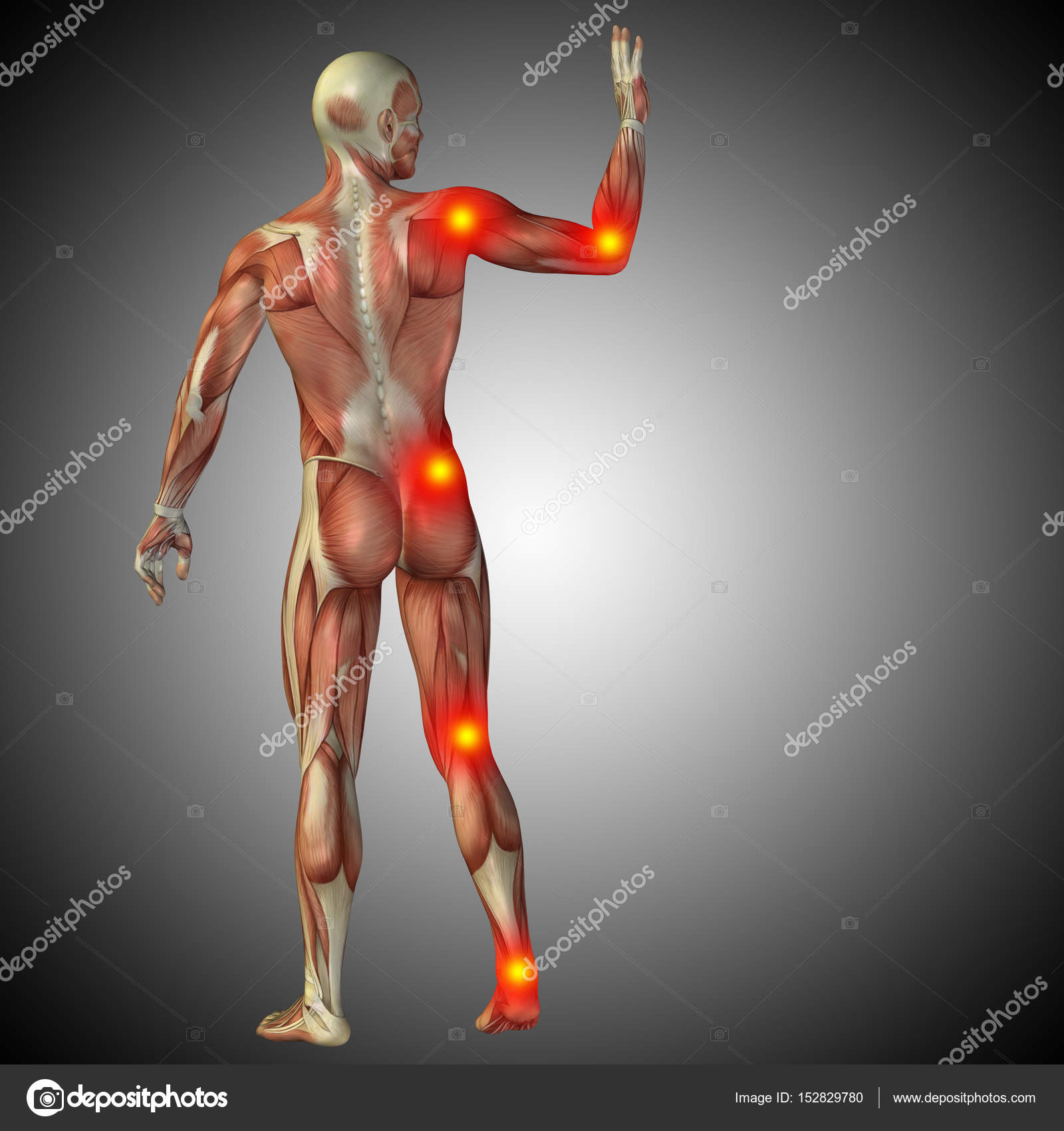 human body anatomy with pain signs — Stock Photo © design36 #152829780