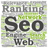 seo abstract word concept