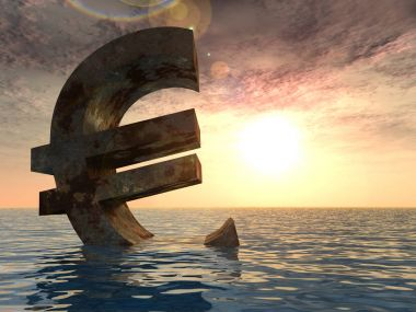 3D illustration currency euro sign