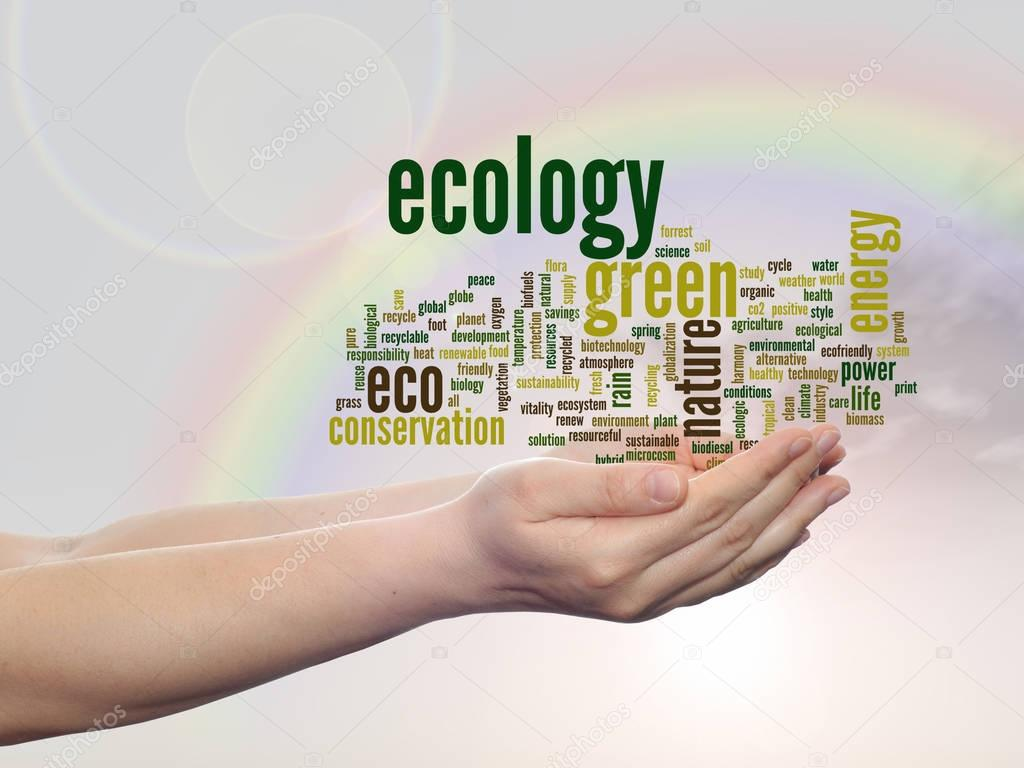 conceptual abstract green ecology