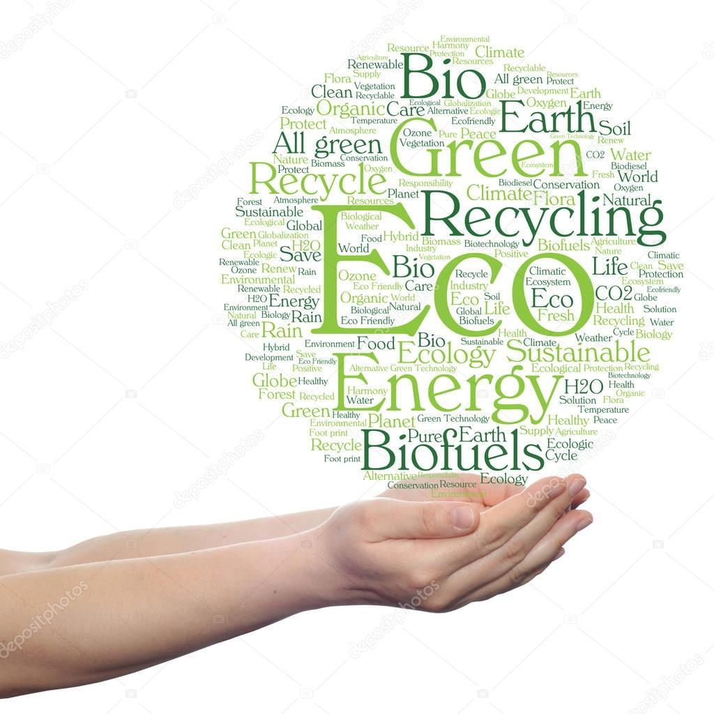 conceptual abstract green ecology