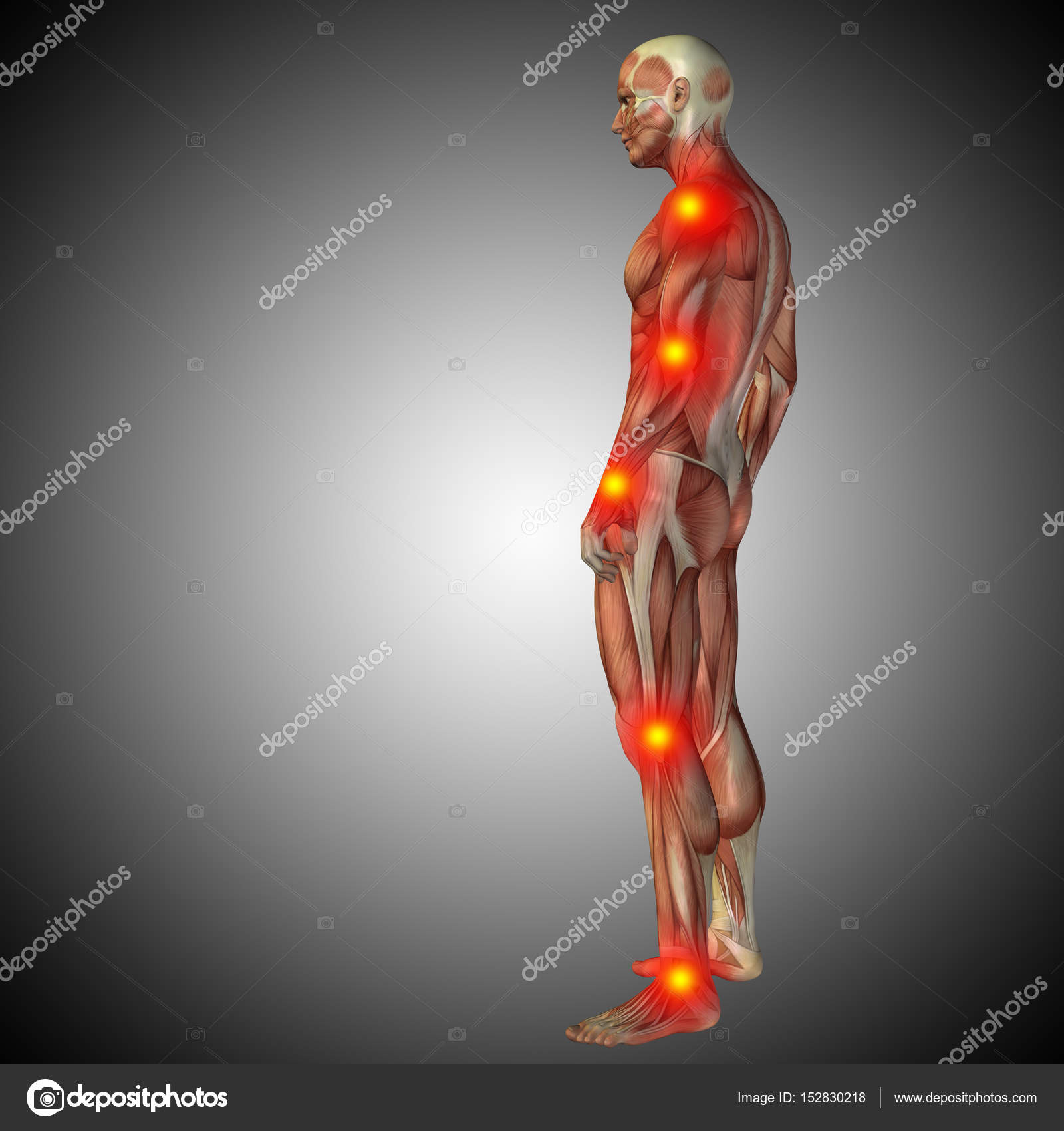 human body anatomy with pain signs — Stock Photo © design36 #152830218