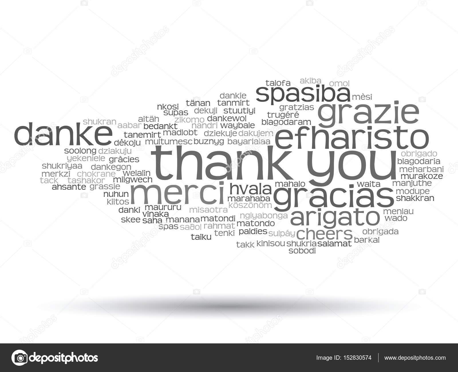 Nube de palabra de Resumen gracias — Fotos de Stock © design36 ...