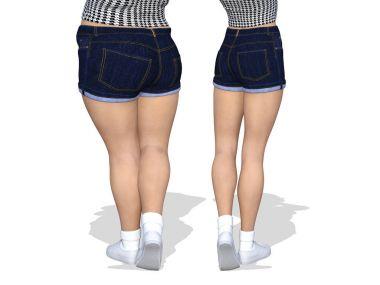 fat woman vs slim woman