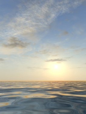 beautiful seascape with water and waves