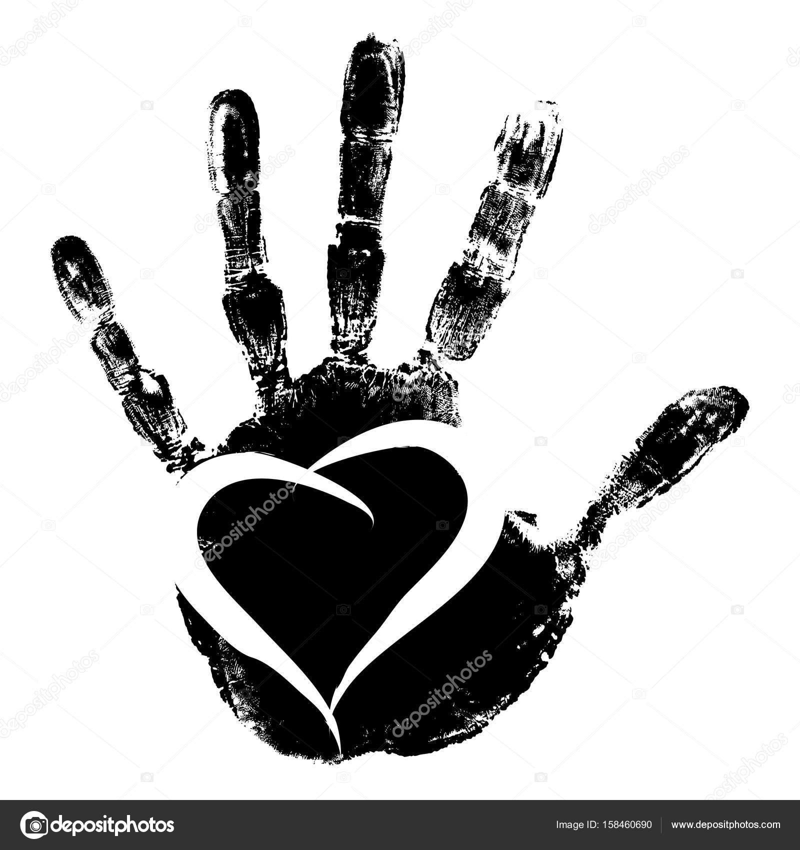 cute paint human handprint stock photo design36 158460690