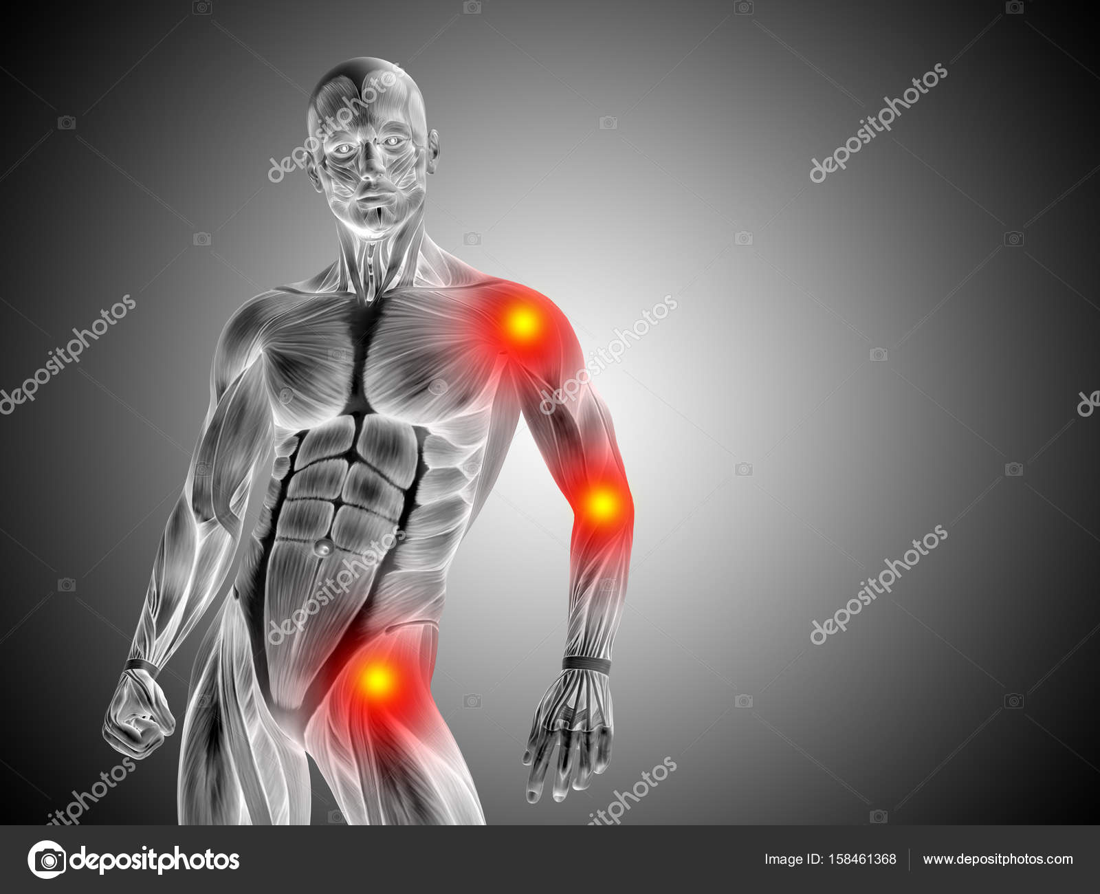 human man anatomy upper body — Stock Photo © design36 #158461368