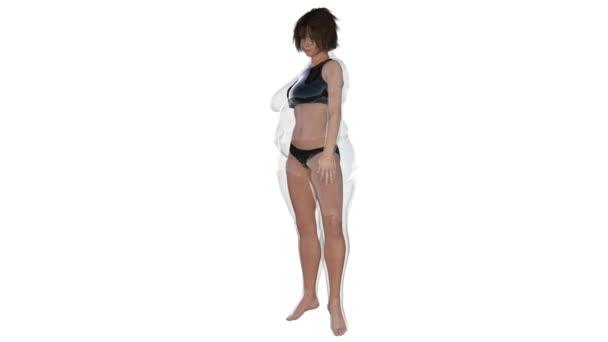těžké nebo tlustá žena před a po dieta