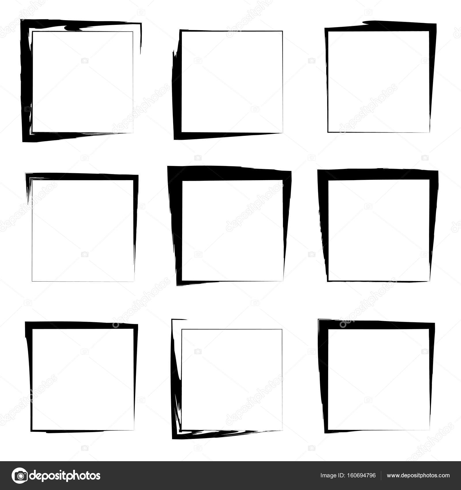 Collection or set square frames — Stock Photo © design36 #160694796
