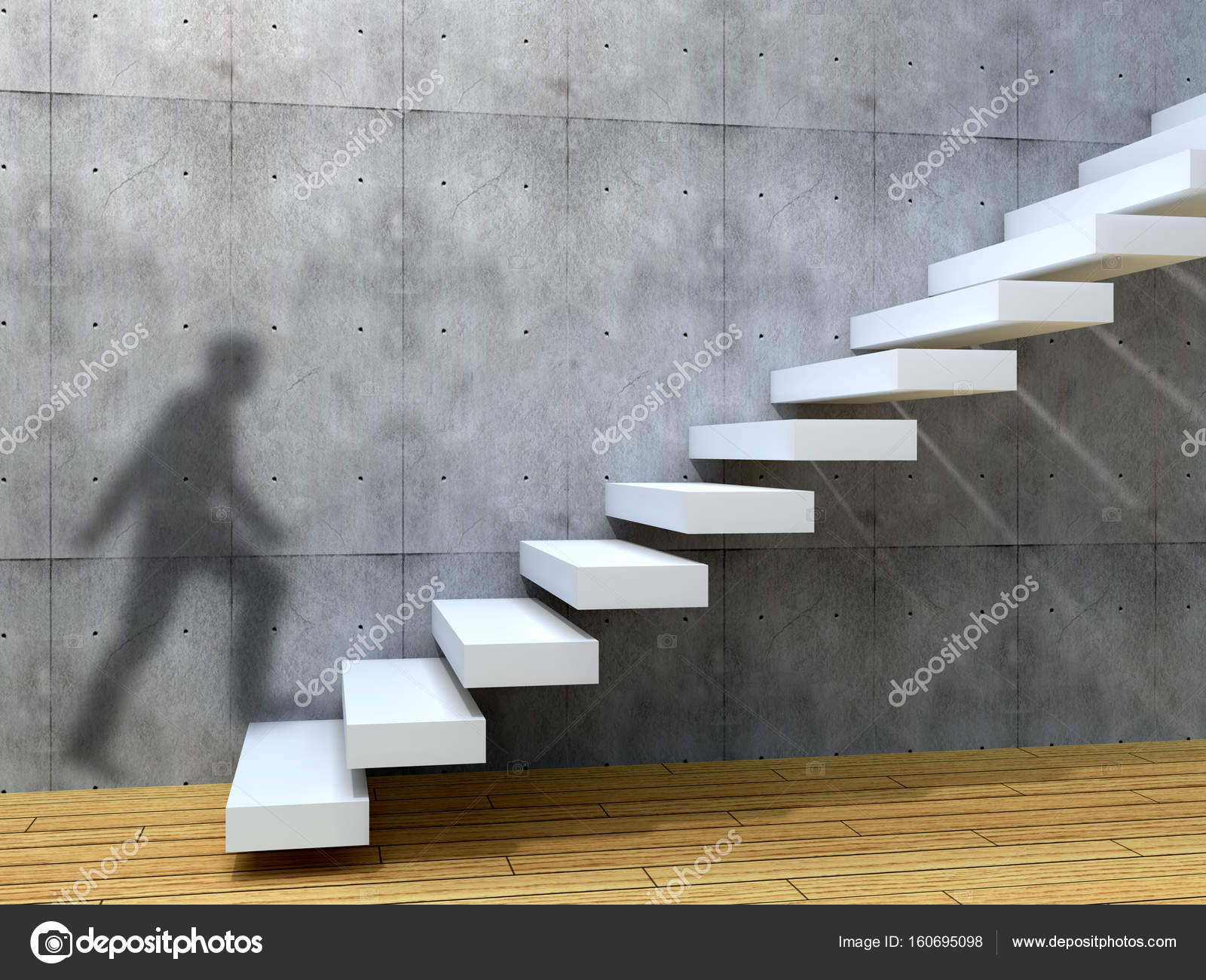 homme d\'affaires ombre montée d\'escaliers — Photographie design36 ...