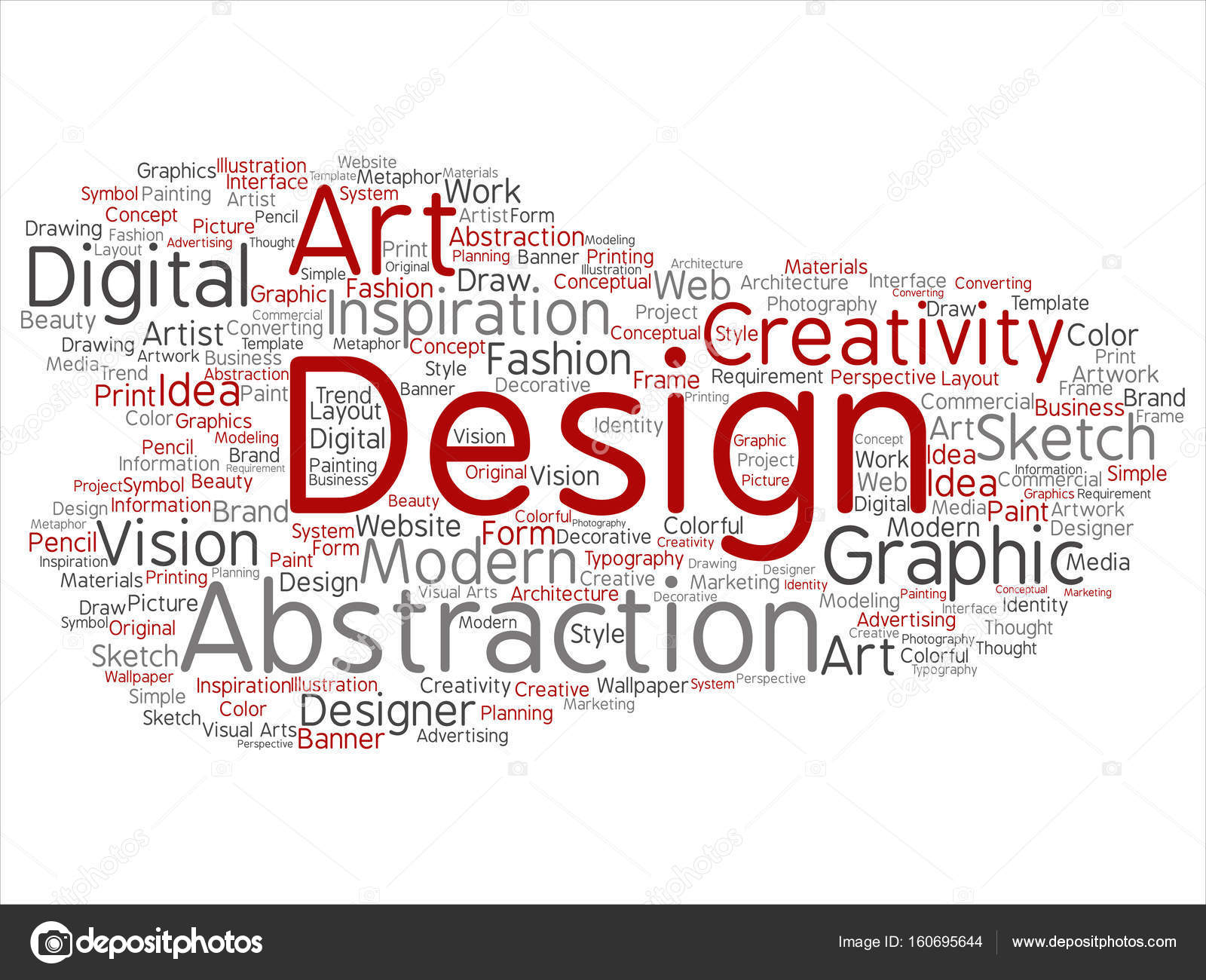 Conceptual Art Design Word Cloud Stock Photo C Design36