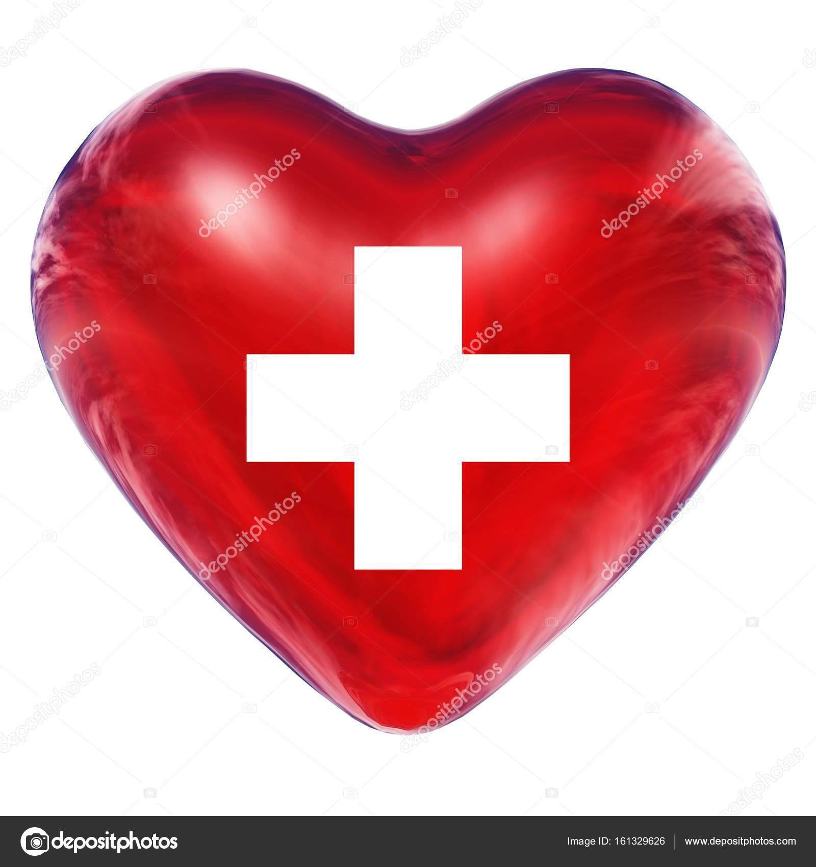 3d heart with a cross sign stock photo design36 161329626