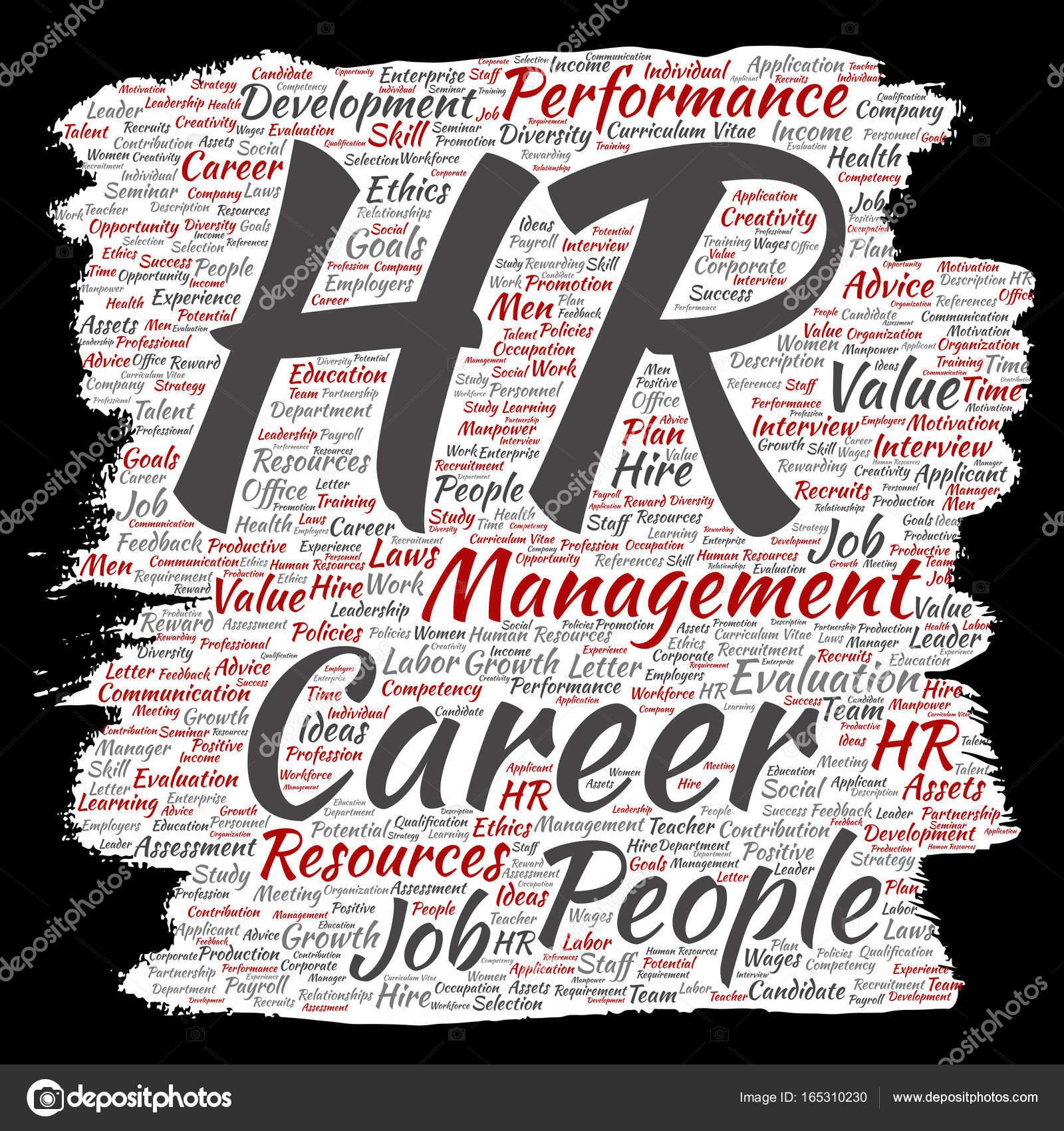 Concepto conceptual hr recursos humanos carrera gestión cepillo o ...