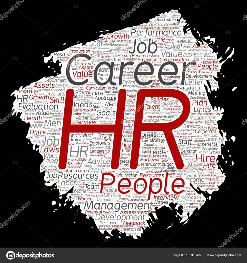 Vector concepto conceptual hr o recursos humanos carrera cepillo de ...