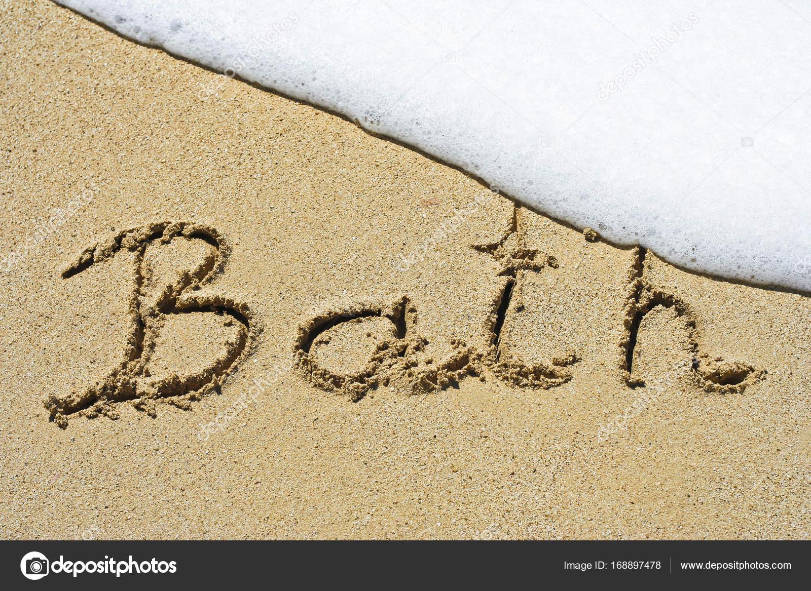 Vasca Da Bagno Disegno : Vasca da bagno a mano in sabbia naturale simbolo turismo o