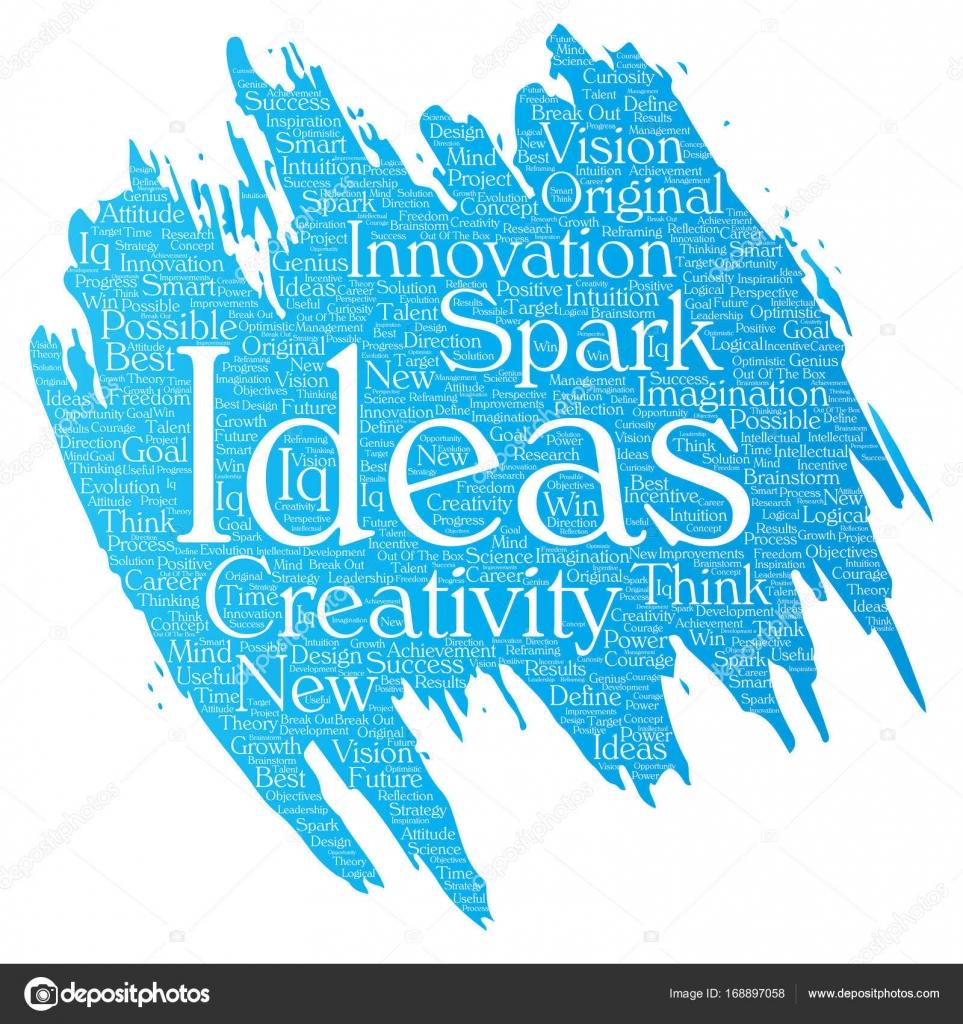 Creative New Ideas Word Cloud Stock Vector