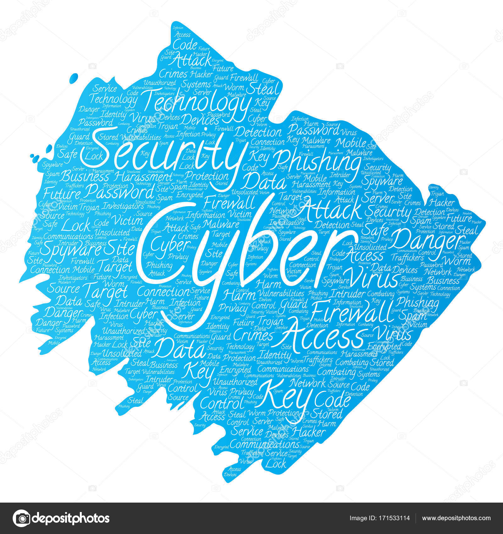 Conceptual cyber security online access technology paint