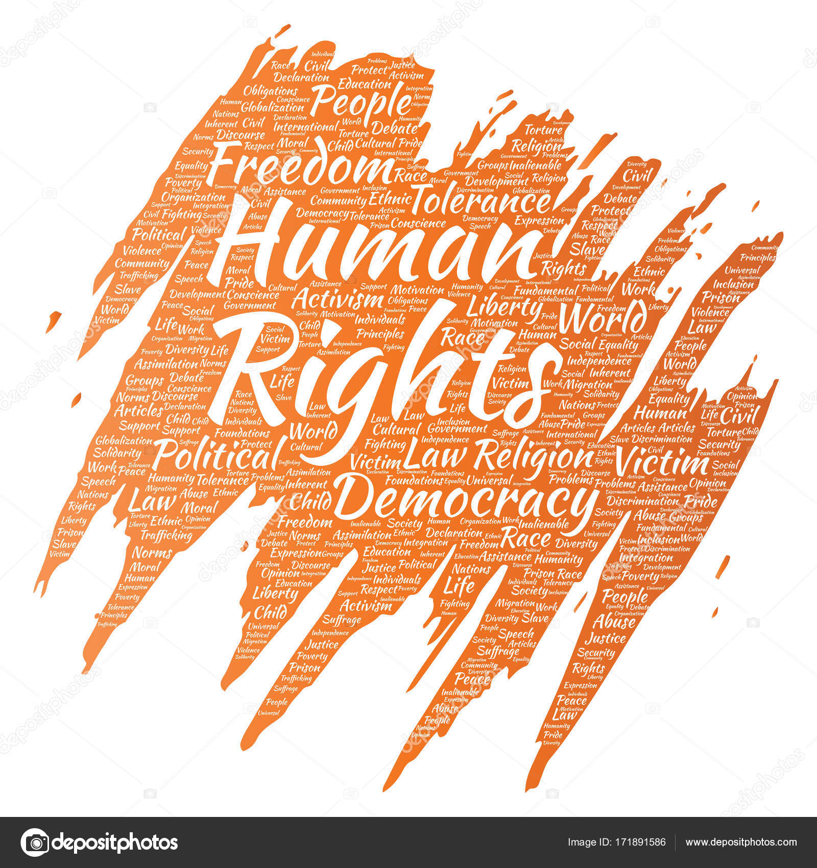 conceptual human rights political freedom democracy paint brush