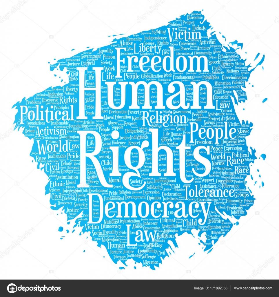 Vektör Kavramsal Insan Hakları Siyasi özgürlük Demokrasi Boya Fırça