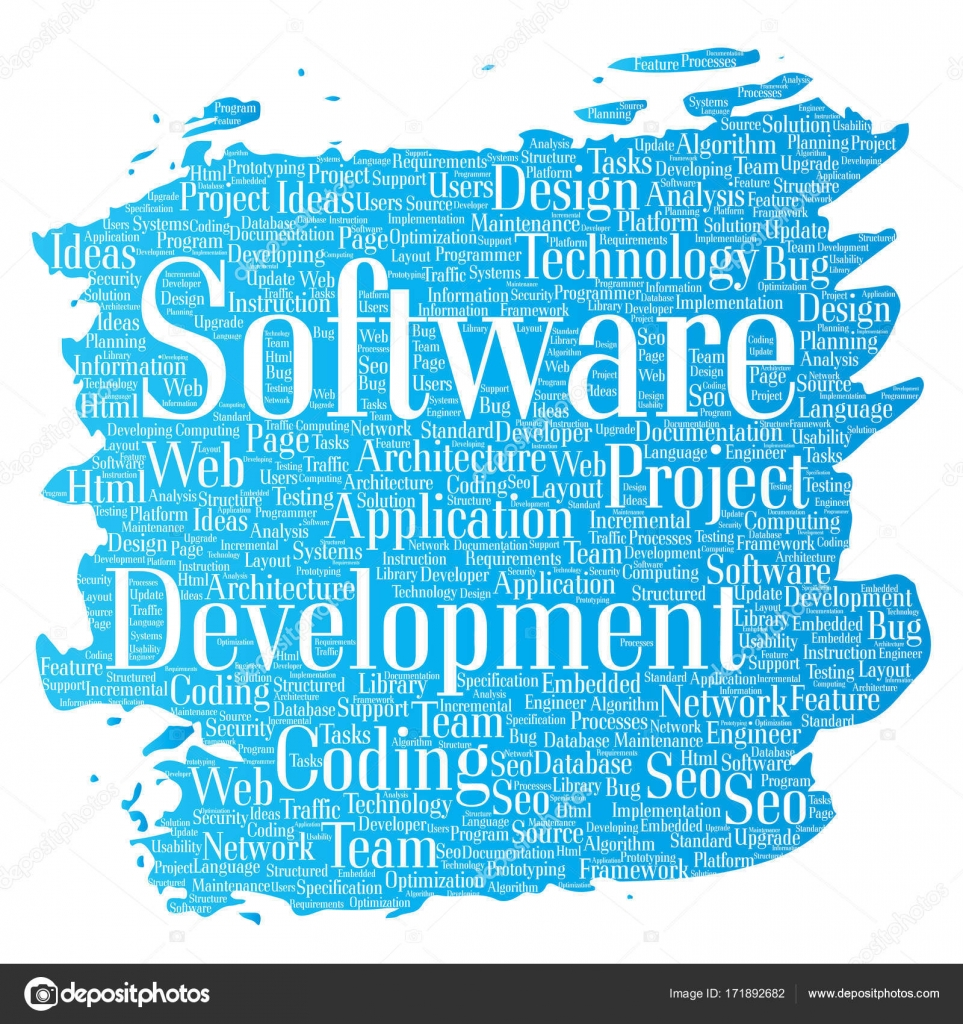 Vector conceptual software development project coding technology ...