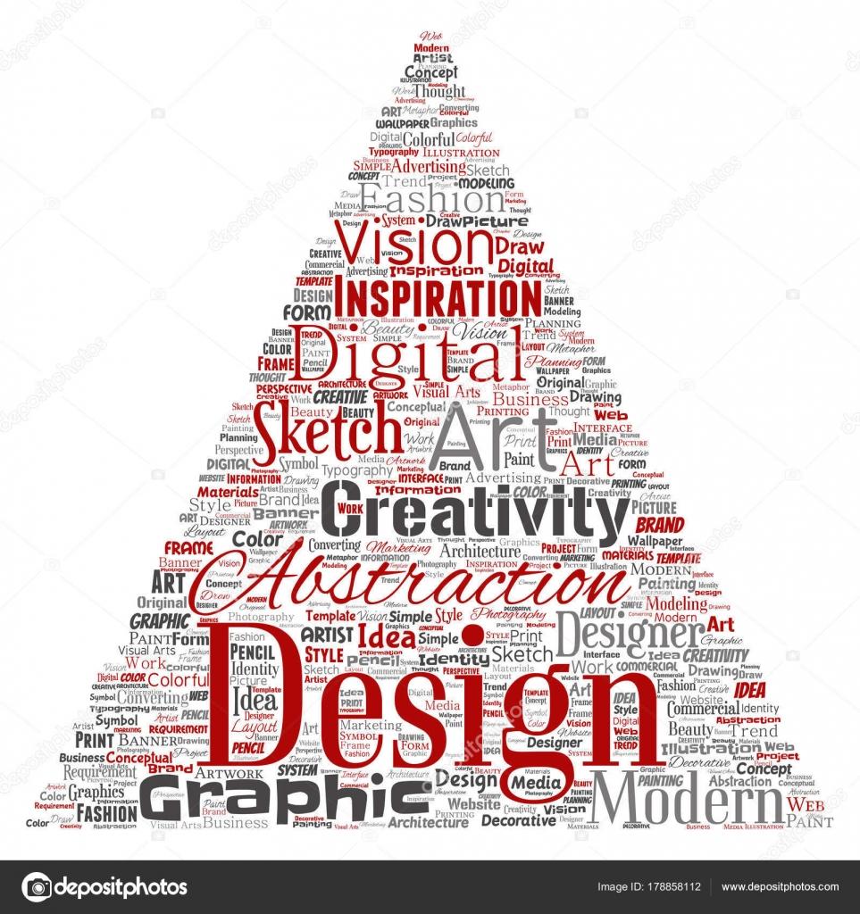 Conceptual graphic identity design triangle arrow word cloud conceptual graphic identity design triangle arrow word cloud vector illustration stock vector buycottarizona Images