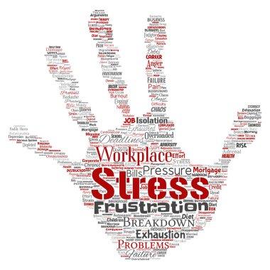 Conceptual mental stress word cloud
