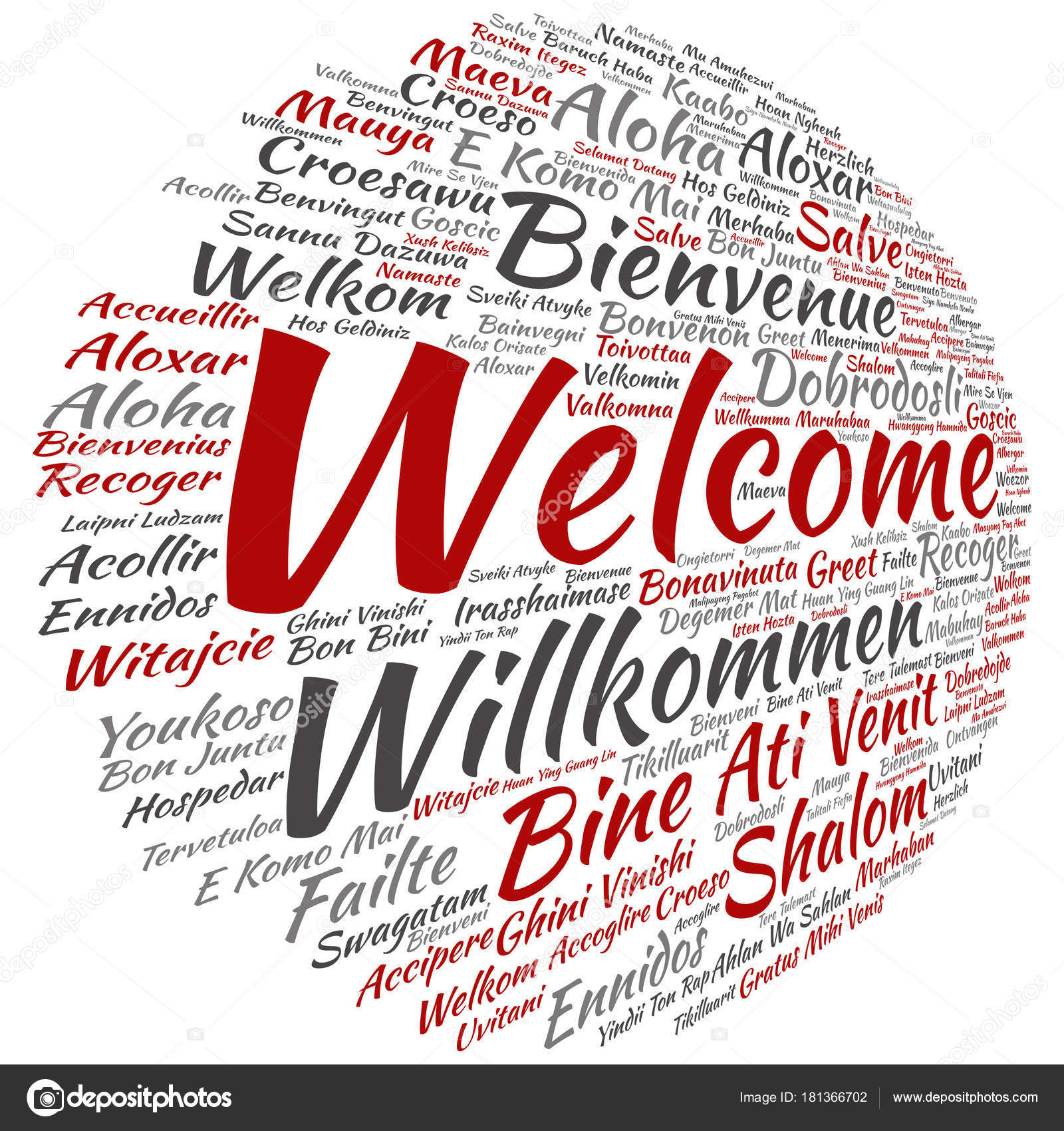 Concept Conceptual Welcome Greeting International Word Cloud