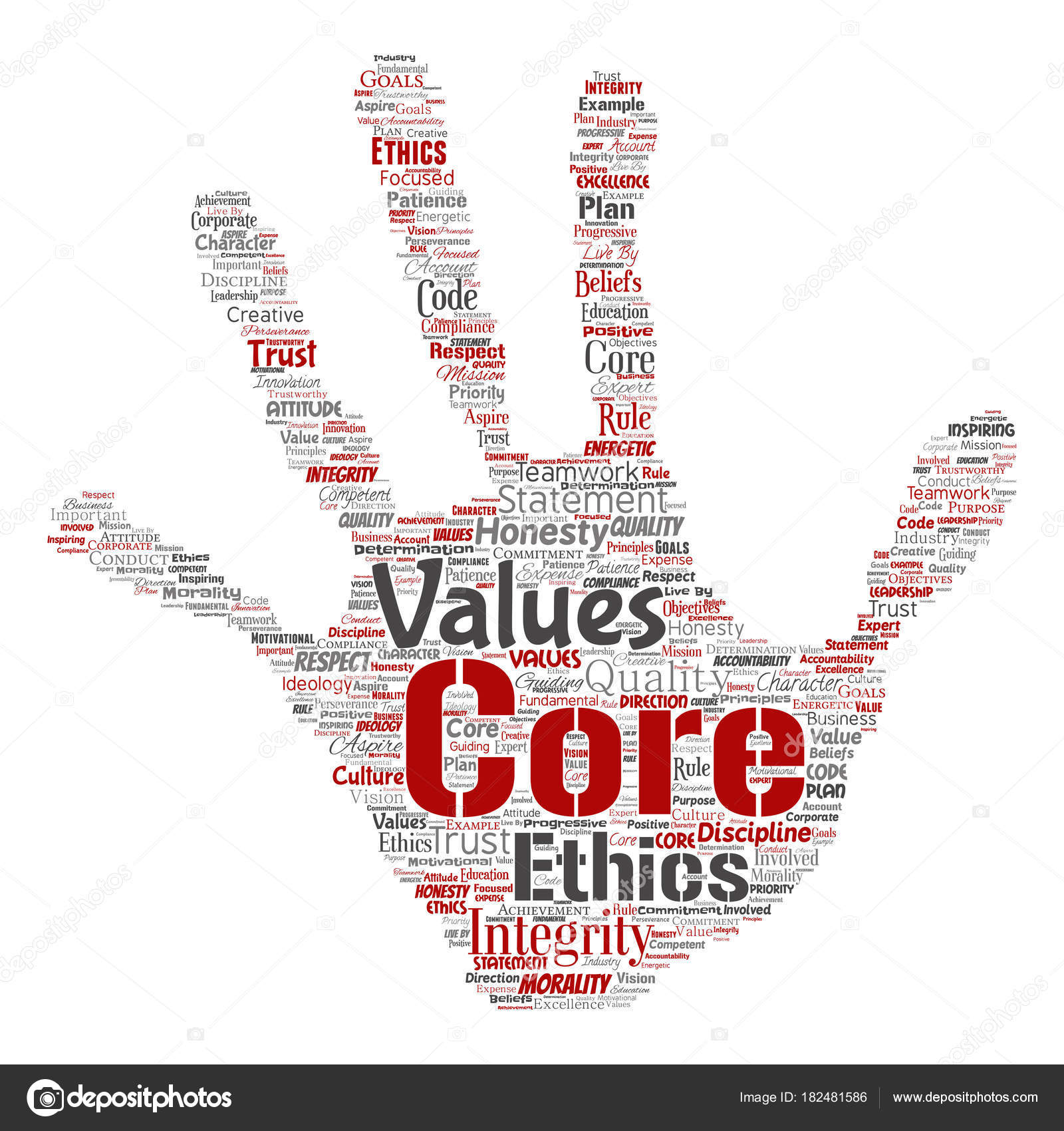 Vector conceptual core values integrity ethics hand print stamp vector conceptual core values integrity ethics hand print stamp concept word cloud isolated background collage of honesty quality trust statement biocorpaavc Image collections